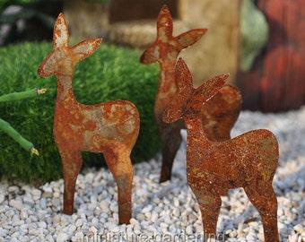 Reindeer, Set of 3 for Miniature Garden, Fairy Garden
