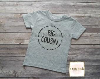 Big Cousin Shirt/Little Cousin Shirt or Onesie Personalized Shirt Cousin Shirt Pregnancy Announcement Baby Announcement Shirt