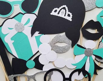 Breakfast at Tiffany's Photo Booth Props, Tiffany's Photo Booth Props (1 set of 15)