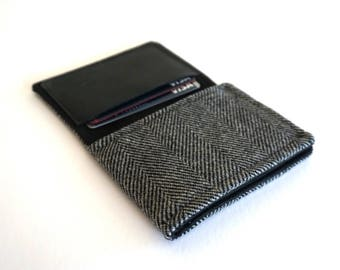Wallet - gray herringbone