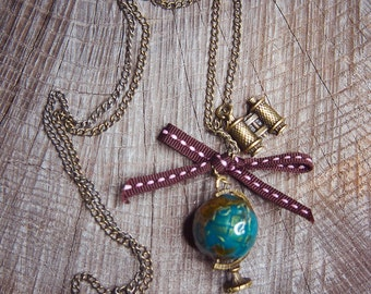 Globe Necklace ~1 pieces #100439