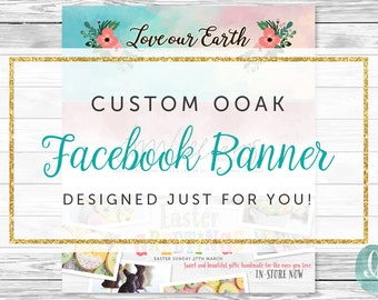Custom Designed Facebook Timeline Cover | Facebook Cover Template | Graphic Design | Shop Branding and Marketing | Unique Professional OOAK