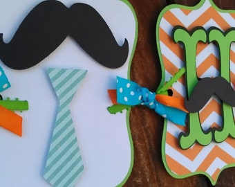 Mustache Bash.  Little man Birthday.  Mustache birthday banner.  Neck tie Birthday banner. 1/2 Birthday Banner. Stache Bash. Happy Birthday