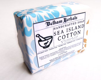 SEA ISLAND COTTON | Silk & Cotton Honey Soap | Handmade Soap, Gifts for Her, Homemade Soap, Artisan Soap, Sea Island Cotton Soap, Soaps