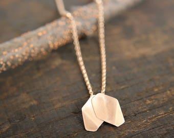 Rose gold 'Rose Petal' pendant