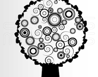 Wall Decals CIRCLED TREE Vinyl art stickers for walls by Decals Murals