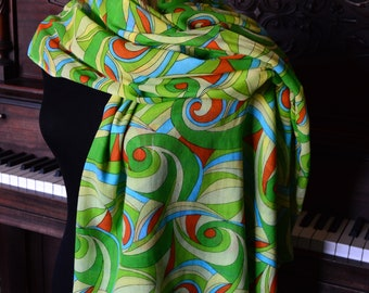 Colorful batiste cotton light weight shawl scarf