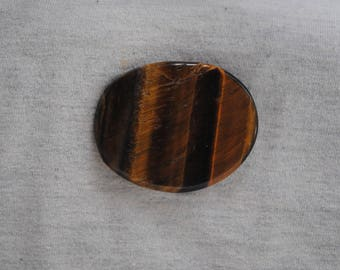 Tiger Iron,Golden Brown Tiger Eye, Hematite, Palm Stone, Worry Stone, Healing Stone
