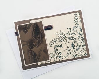 Butterfly Card - Butterfly Greeting Card - Blank Card with Envelope - Sympathy Card - Butterfly Sympathy Card - Blank Notecard - Spring Card