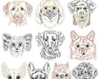 Dog breeds part 9 for the border 10x10cm