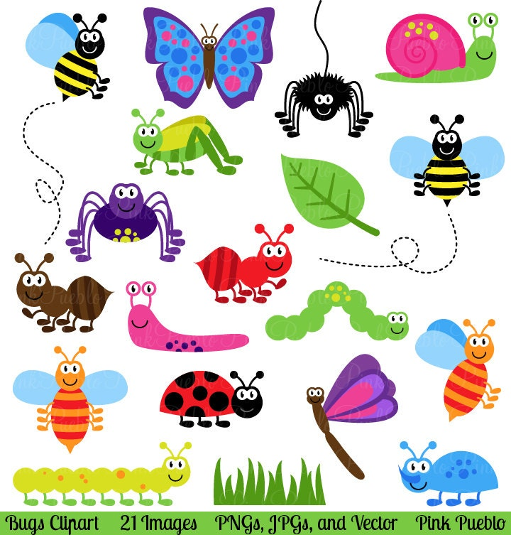 bugs clipart clip art insects clipart clip art vectors rh etsy com insects clipart images clipart insects and bugs