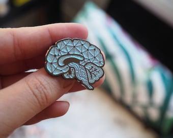Blue Sagittal Enamel Pin