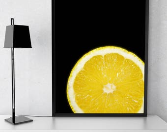 Lemon Instant Download Printable Fruit Wall Art Home Decor Food Art Fruit Print Digital Download Citrus Breakfast Room Decor Kitchen Art