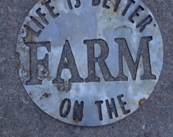 Life Is Better On The Farm - Sign