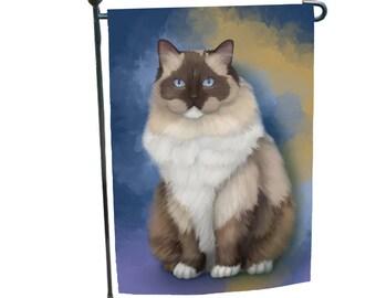 Ragdoll Cat Garden Flag