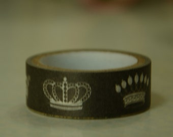 1 Roll of Japanese Washi Tape Roll- Crowns