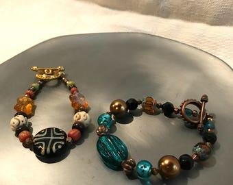 Handmade Jewelry Bracelet Duo: Statement pieces on Sale!
