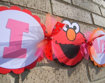 Elmo Inspired Party Banner High Chair Banner Any Age