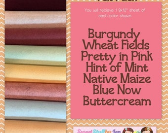 Blush Blooms-Fall-Autumn-Craft Wool Felt-Wool Blend Merino Felt Variety Pack-Fall Bundle