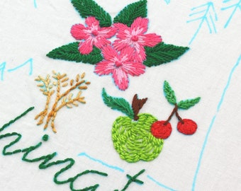 Washington State Embroidery Design Hand Embroidery Pattern Seattle Embroidery