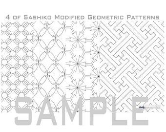 Sashiko Geometric Pattern (2_Modified)