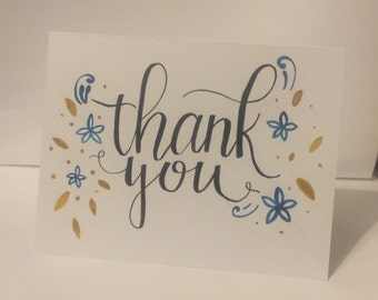 Handlettered Thank You Cards