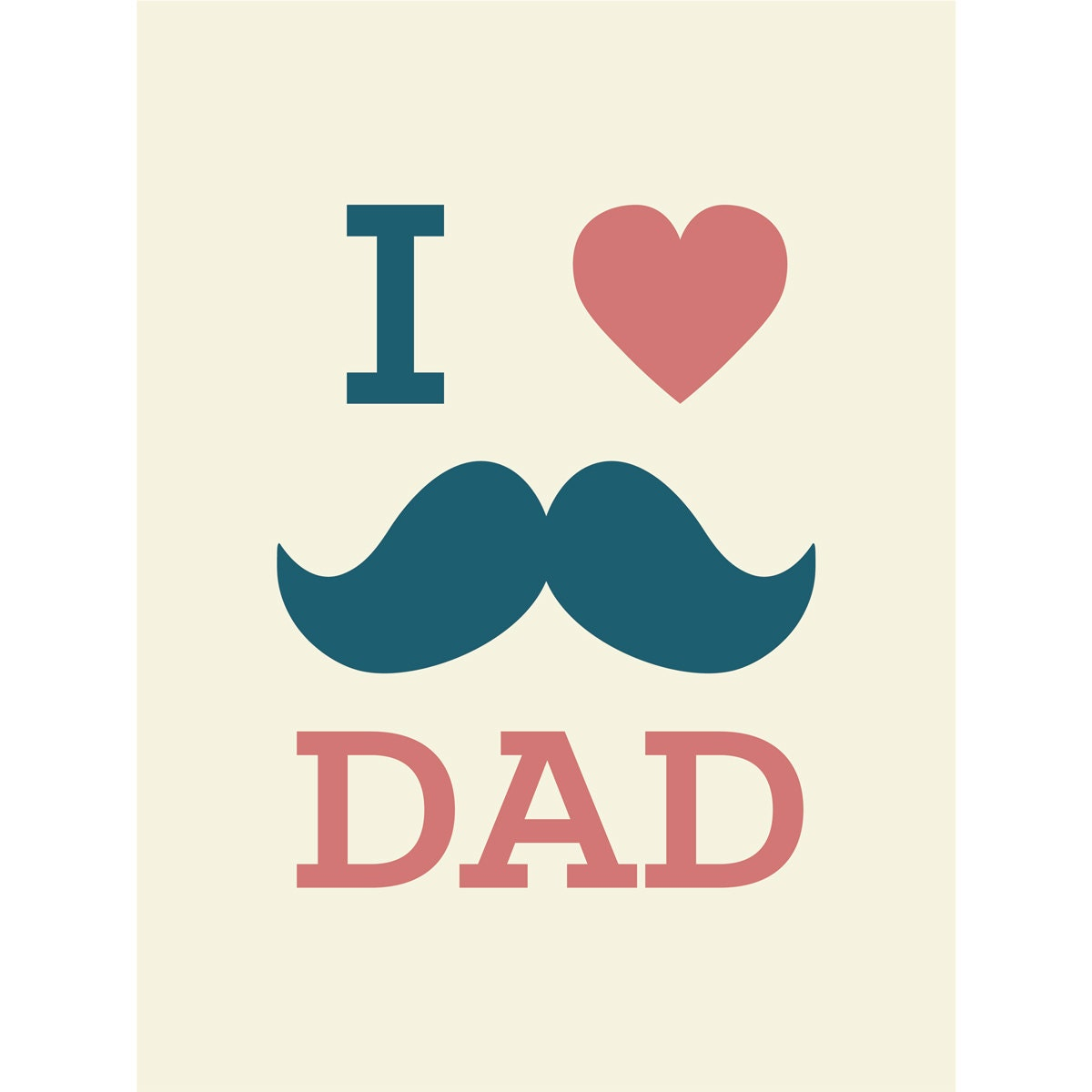 Father Love: I Love Dad Printable Card Instant Download Father's Day