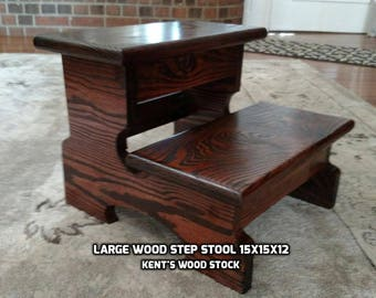 Steps Stools Etsy - Wooden step stools for the kitchen