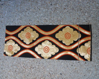 Japanese Vintage Fukuro Silk Obi Table Runner or Wall Hanging