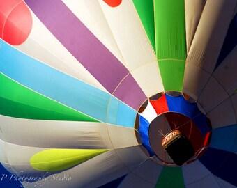Hot Air Balloon, Balloon Fiesta, photography, color, Albuquerque, New Mexico, sky