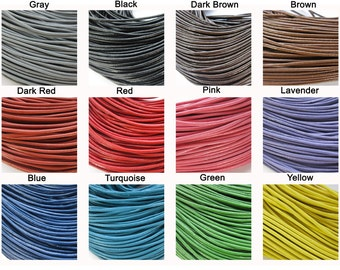 1 mm Cowhide Leather Cord Cord for Jewelry & Crafts You Choose Color- Sold By The Yard