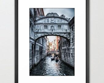 Venice Bridge of Sighs, Italy, Gondolas, Canal, Fine Art Photography, fPOE, Architecture, (6 Sizes)