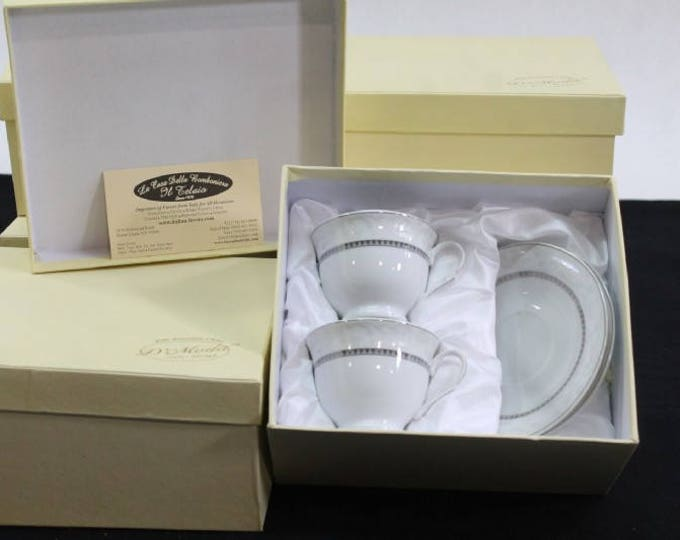 Wedding Gift D' Moda Fine Porcelian,  Loren Coffee Collection Set of 4 Pieces , in Original Box,  with Reduced Shipping Great Wedding Gift