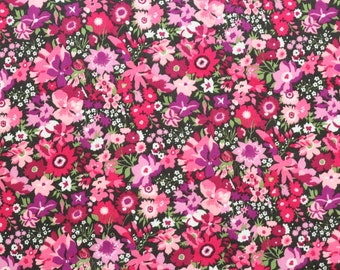 Liberty fabric Tana Lawn Manuela - 9''x26'' Fat Eighth  - Seasonal Collection - purple/pink
