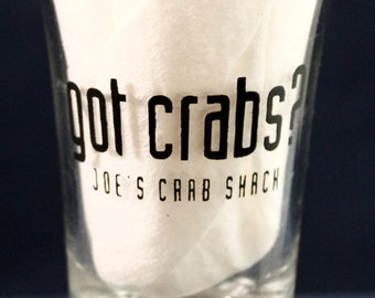 "Shot Glass got crabs?  Joe's Crab Shack Tall 3 1/2"""