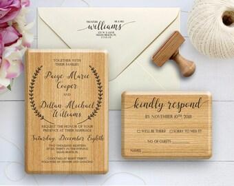 Wedding Stamp, Wedding Invitation Stamp, Wedding RSVP Stamp, Wedding Address Stamp, Wedding Suite Stamp Set