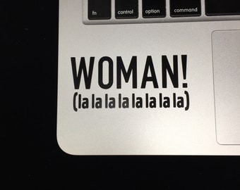 One Direction Harry Styles Vinyl Laptop Stickers, Woman Lyrics Decal Fandom Stickers Woman Lyrics Fan Gift