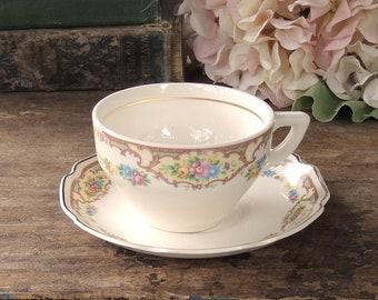 Mount Clemens Mildred Tea Cup Set Cottage Style Tea Party thé tasse soucoupe ferme Chine Ca. 1930 s