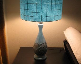 Beautiful Made To Order Mid Century Vintage Style Fiberglass Lamp Shade Custom Retro  Atomic