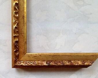 Vintage Gold Picture Frame - Picture Frame -Custom Picture Frame 4x4, 4x6, 5x5, 5x7, 8x8, 8x10, 8.5x11, 10x10, 11x14, 16x20, 18x24, 24x30
