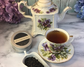 Berry English Breakfast Tea Elderberries and Full Leaf Pekoe Black Loose Leaf Tea