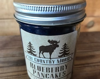 Country Moose Blueberry Pancakes Candle