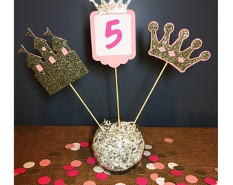 princess centerpiece, castle centerpiece, crown centerpiece princess party decor princess party royal ball decor royal ball party royal ball