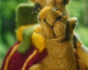 Needle Felted Camel/Nativity Set Camel/Camel Decor/Camel Lovers/Camel Gifts/Three Kings/Wise Men Camel
