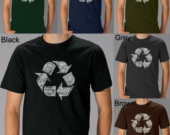 Men's T-shirt - 86 Recyclable Products - Created using 86 recyclable items