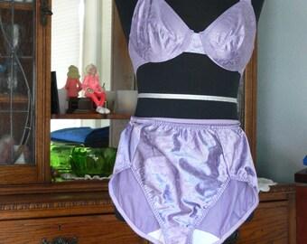 purple bra and panties set size  34