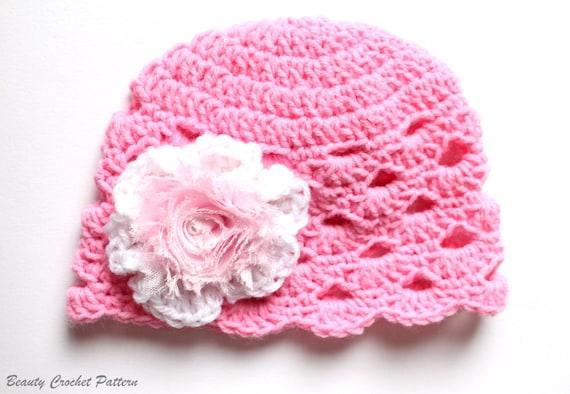 Baby Girl Hat With Flower Baby Girl Hat Crochet Pattern Toddler