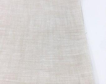 Linen Fabric, 100 % Natural Linen Fabric, Linen by the Yard, Soft Linen, Pure Linen, Linen Bedding fabric, Limerick Linen in Linen Ivory
