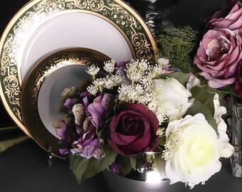 Luxury Rose White Rose and Purple Hydrangea Flower Arrangement