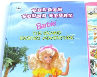1992 Barbie Isand Resort Adventure, Vintage Children's Story Book, Illustrated Colour Fiction, Bedtime Story Hardback, Mattel Barbie